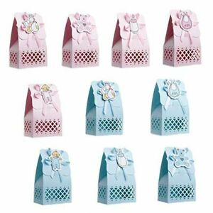 Paper Baptism Baby Shower Candy Box Decoration Kid Gift Bag Event Party Supplies