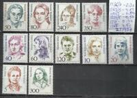 8232B-MUJERES FAMOSAS CELEBRES MNH** SERIES COMPLETAS  Y SUELTOS ALEMANIA 21,90€
