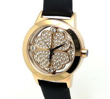 FOLLI FOLLIE Rose Gold Toned HEART 4 Leaf Clover St Patricks Day Watch WF0R057SS