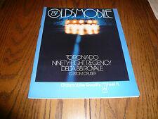 1987 Oldsmobile Toronado 98 Regency Delta 88 Royale Cruiser Sales Brochure