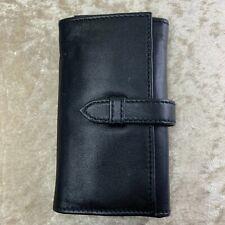 Authentic Cartier Roadster Black Leather Pen Travel Case / Pouch