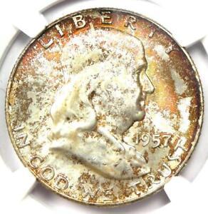 1957-D Franklin Half Dollar 50C Coin - Certified NGC MS67 FBL - $4,100 Value!