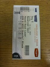 13/07/2014 Cricket Ticket: England v India [At Trent Bridge] Day 5. Trusted sell