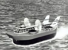 1967 Vintage Photo artist sketch drawing of SEDAM French navy plane hovercraft