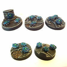 WARHAMMER 40K Armée NECRON Scarab Bases X5 WELL PAINTED AND BASED