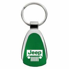 Jeep Grill Key Ring Green Teardrop Keychain