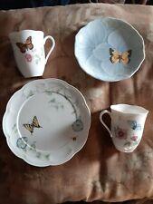 LOT Of 4 Lenox BUTTERFLY MEADOW Plates & Cups Mugs