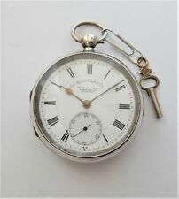 1912 SILVER CASED ENGLISH LEVER POCKET WATCH REID & BROS COVENTRY WORKING