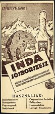 ROMANIA HUNGARY ADVERTISING SEPSISZENTGYÖRGY rub-in INDA sósborszesz spirt men