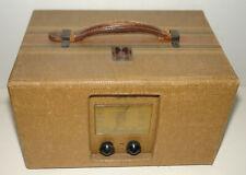 New ListingVintage 1938 Emerson model Ce259 Tweed Vacuum Tube Portable Radio - Super Clean