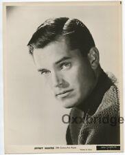 Jeffrey Hunter Portrait 1951 Original Photo 20th Century Fox Handsome Hunk J5131