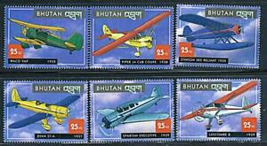 Bhutan 2000 HISTORIC AIRPLANES of the 30's MNH AVIATION
