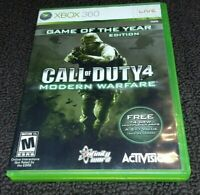 CALL OF DUTY 4 MODERN WARFARE GAME OF THE YEAR EDITION Xbox 360 Complete  Good