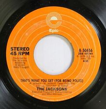 Soul 45 The Jackson'S - That'S What You Get / Shake Your Body On Epic