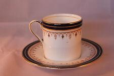 Aynsley Leighton 1646 Copa y platillo de café espresso café puede Azul Cobalto Retro 1970c+