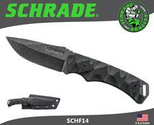 Schrade Fixed Blade Knife 8Cr13MoV StoneWash G-10 Handle Kydex Sheath SCHF14