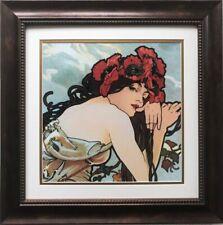 """Alphonse Mucha """"The Seasons:Summer"""" 1896 (detail) CUSTOM FRAMED ART Nouveau"""
