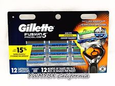 Gillette Fusion5 Proglide Razor Blades 12 Cartridges, 100%AUTHENTIC,*NEW*#048