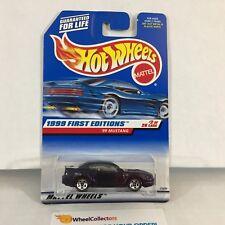 #12  '99 Mustang #909 * Dark Purple * 1999 Hot Wheels * NE24