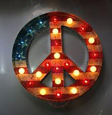 Custom Vintage Marquee lights art Carnival peace Sign Circus Bulbs & Lights
