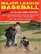 1961 Major League Baseball magazine NY Yankees Pittsburgh Pirates, 1960 WS ~Good