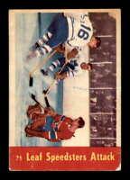 1955 Parkhurst #75 Eric Nesterenko/Sid Smith/Jacques Plante IA VG X1563750