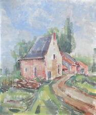 Peintures du XXe siècle et contemporaines huiles xxème et contemporains etude
