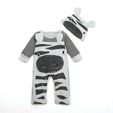 2017 Newborn Infant Baby Boy Girl Romper+Hat Jumpsuit Bodysuit Clothes Outfit 70