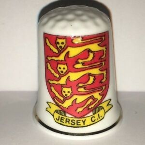 Collectable JERSEY CI SHIELD OF ARMS    Thimble (#AA55)