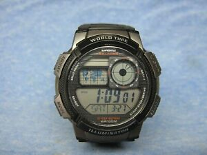 Men's CASIO World Time Digital Watch AE-1000W