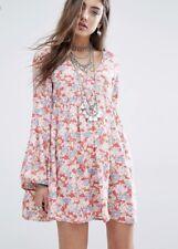 $125NWT RALPH LAUREN DENIM&SUPPLY LADYS BELL SLEEVE FLORAL PEASANT DRESS SIZE XS