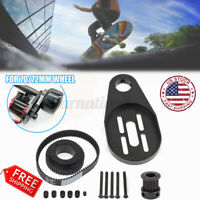 15PC DIY Electric Skateboard Kit Motor Wheel Pulley Mount Drive Belt for 72/70MM