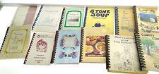 LOT OF 20 CHURCH & FUNDRAISER SPIRAL BOUND COOKBOOKS Recipes f21