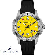 Nautica . NAI13516G . NCS 16 . Armband Uhr Herren . Kautschuk . schwarz . NEU