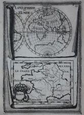 Original antique map WORLD, 'PLANISPHERE DU MONDE', FRANCE, A.M. Mallet, 1683