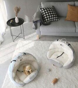 Comfortable Car Dog Pet Bed Nest Cat Dog Non-Slip Fleece Car Cotton