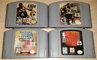 Nintendo 64 N64 Game lot NBA Basketball In Zone 98 Live 99 and 2000 Kobe Bryant