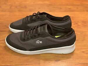Lacoste LT Spirit Elite 117 1 SPM Fashion Sneakers For Men (Black/Gray) Size 12
