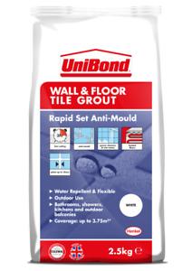 UniBond Wall & Floor Tile Grout White 2.5kg