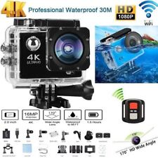 "2"" 4K Ultra HD 16MP Helm Action Camera Sports DV WiFi Cam 30m Waterproof Go Pro"
