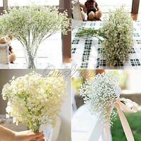 12× Baby Breath Artificial Flowers Fake Gypsophila Wedding Flower Bouquet Decor