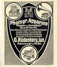 Photograph.Apparate G.Rüdenberg jun. Hannover u. Wien 1905