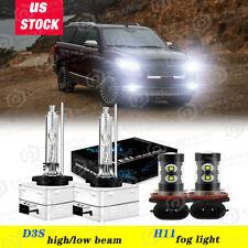 For Lincoln Navigator 2007-2017 Xenon HID Headlight HI/LOW & LED Fog Light Bulbs