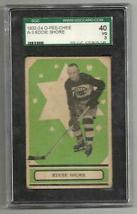 1933-34 O-Pee-Chee Eddie Shore RC Green SGC 40