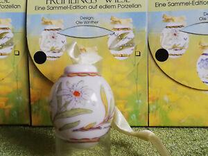 Hutschenreuther Frühlings-Wiese: Edelweiss MINI Osterei Porzellan 2002 Edelweiß