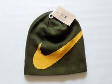 NEW Nike Wrap Beanie Hat Green Yellow Cap 579445 384 Skateboarding Snowboarding