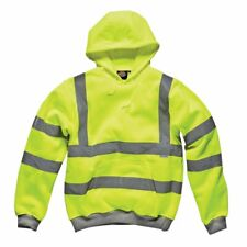 Dickies Sa22090 High Visibility Safety Hooded Sweatshirt Yellow Large