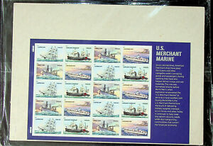 US Merchant Marine - Pane of 20 Forever US Stamps - Sealed