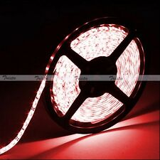 Red Waterproof 5M 300 Leds 3528 SMD Flexible Strip Light 12V DC Black PCB NEW