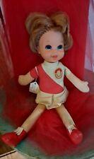 70s Mattel Oklahoma Sooner Football Cheerleader Doll Little Miss Red! Talks!